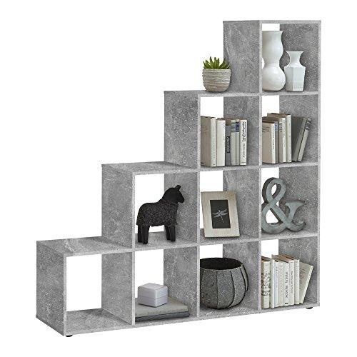FMD Möbel Mega 2 Raumteiler, Holz, beton, 138.5 x 33 x 143.5 cm