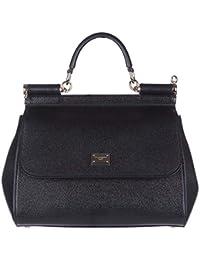 Sac à main Dolce Gabbana Femme Cuir Noir et Or BB6002A100180999 Noir  10x20x25 cmEU 197380d073dc