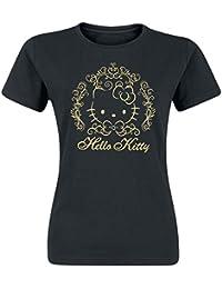 Hello Kitty Ornament Kitty Girl-Shirt schwarz