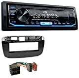 caraudio24 JVC KD-X151 1DIN USB Aux MP3 Autoradio für FIAT Punto Punto Evo (ab 2011)