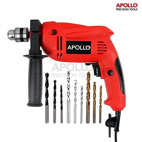 Apollo 500 Watt DIY Mehrzweck 220 V Bohrer mit Schlagfunktion zum Bohren in Beton und Stein. 3/8
