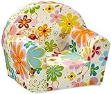 """Kindersessel, Ludger"""" für Mädchen und Jungen, kuschelig weicher Schaumstoff Baby-Sessel mit Blumen-Fee Motiv"""