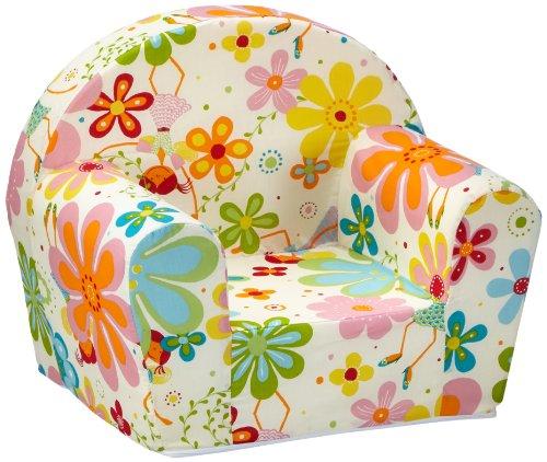 """Sun Garden Kindersessel \""""Ludger\"""" für Mädchen und Jungen, kuschelig weicher Schaumstoff Baby-Sessel mit Blumen-Fee Motiv"""