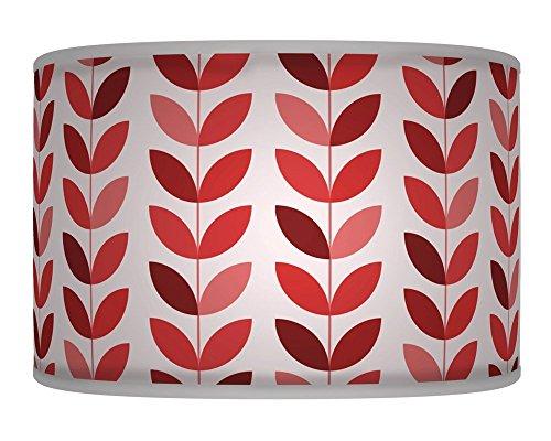 60cm (61cm) Floral Rost Rot Blütenblatt Retro handgefertigt Giclée-Style bedruckter Stoff Lampe Drum Lampenschirm Boden oder Decke Pendelleuchte Schatten 374 (Rot Lampenschirm Drum)