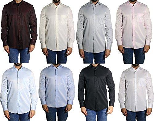 diagonal gestreiftes Herren Hemd MMUGA Grau