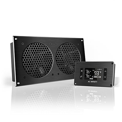 AC Infinity AC Infinity AIRPLATE T7, Quiet Cooling Fan System with Thermostat Control, for Home Theater AV Cabinets