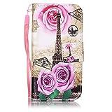 Coque iPhone 5C , CaseLover Motif Peint Mode Eiffel Tour PU Cuir Étui Coque pour...