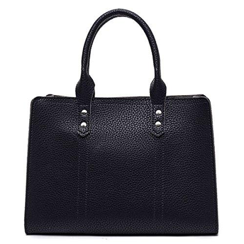 ZPFME Womens Tote Handtasche Sets Mode Damen Tasche Shopper Leder Party Retro Bankett Mode Red