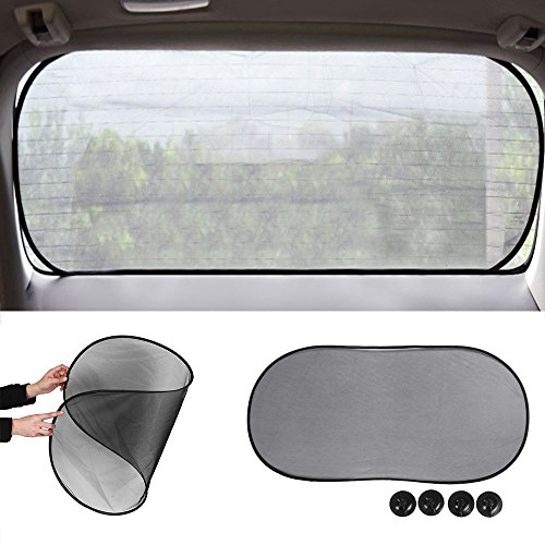 LiDiwee Auto Car Window Sunshade Cover Anti Glare HD Visor Mirror Extender Mesh Shield UV Block Protect (Edge Folding Clip)