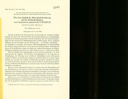 Heber den Einfluss der Mineralsalz-Ernährung auf die Fruhfruktifikatisn von Cryptomeria japonica (L.F.D.) Don.) (Flora, Bs. 154, 189-208, 1964)