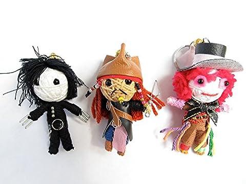 String Doll World Lot de charms/porte-clés Poupées vaudou Johnny Deep