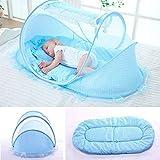 Faltbar Baby Travel Krippe mit Moskitonetz Baby Reisebett tragbar Baby Kinderbett Moskitonetz tragbar Babybetten für 0–3 Jahre Baby (blau)