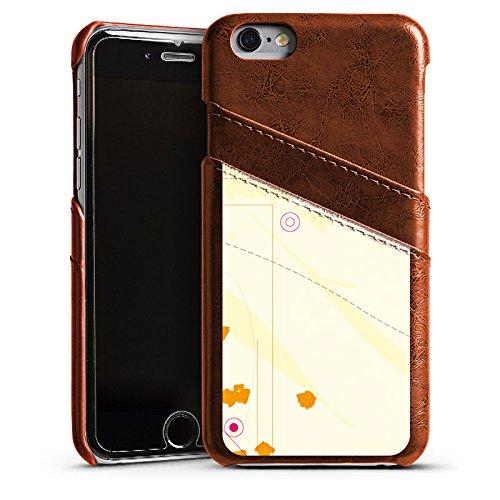 Apple iPhone 4 Housse Étui Silicone Coque Protection Motif Motif couleurs Étui en cuir marron