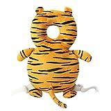 Domybest Cuscino di Sicurezza per Testa Bambino Cuscino Protettivo Neonati a Forma D'Anatra/Tigre Protezione Testa Primi Passi per Bambini (Tigre)