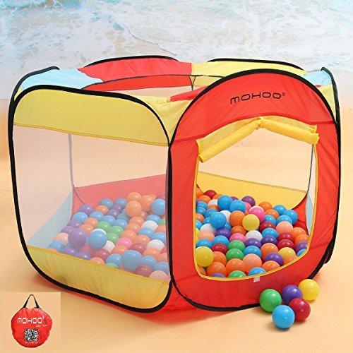 Spielzelt MOHOO Bällebad Kinder Ball Pit Bällepool Playzelt Indoor Outdoor spielzelt Wasserdichte Tuch Einfach Folding Hideaway Zelt (KEINE BÄLLE MIT DABEI) (Stoff Wasserdichtes Zelt)
