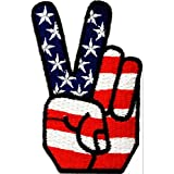 Victory USA Patch 4,2 x 7,2 cm - Parche Parches Termoadhesivos Parche Bordado Parches Bordados Parches Para La Ropa Parches La Ropa Termoadhesivo Apliques Iron on Patch Iron-On Apliques