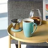 Sweese 2101 Teetasse mit Deckel und Sieb, Tee tassen Porzellan für Losen Tee Oder Beutel, Helltükis, 400ml