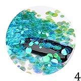 Colorful Meerjungfrau Fantasy-Sequins, Glitzer-Konfetti Sequins Acryl Tipps, Nail Art, Maniküre DIY Werkzeug
