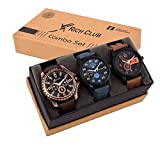 #3: Rich Club Analogue Black Blue Dial Men Watch REL-OCT-DENIM
