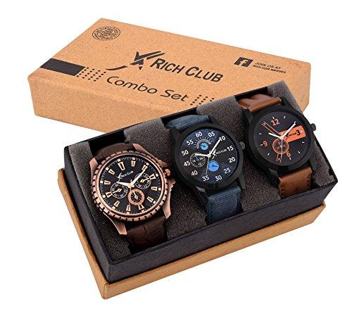 Rich Club Analogue Black Blue Dial Men Watch REL-OCT-DENIM