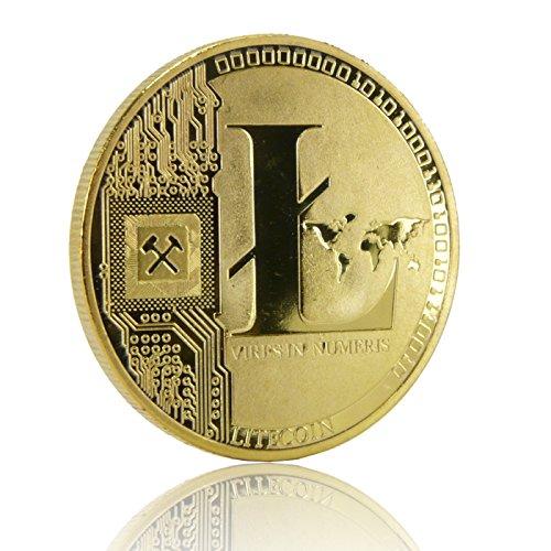 Physische Litecoin Münze mit Gold überzogen - 2