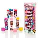 MGA Entertainment LOL Surprise 8 Pack Flavoured Lip Balm Sticks - Mädchen-Lipgloss-Set