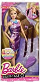 Barbie Hairtastic Doll Purple Dress Blonde Hair CBW35