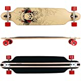 FunTomia® Freerider Longboard / Érable canadien 9 Plis / charge max 110 kg / Roues 70x51mm / Roulements ABEC-11