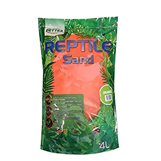 Pettex Reptile Coloured Calci Sand, 4 litre, Orange 512k 2BDx4 PL