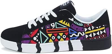 Scarpe da Ginnastica Scarpe Uomo Sneakers Sportive Calzature Vintage Soft Scarpe Donna Sneakers Sportive Eleganti Running Moda Uomo Casual Lace-Up Sport Scarpe Sneakers Graffiti Scarpe