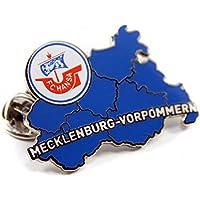 Dell' F.C. Hansa Rostock Spilla/Pin/Button/Spilla Meclemburgo-Pomerania Anteriore vorpommer (Piccolo Cappello Pin)