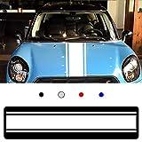 Autocollant de Décalque de Vinyle Bande Latérale de Corps de Voiture pour M INI Cooper Voiture Bande Longue Sticker Blanc 2 Pièces