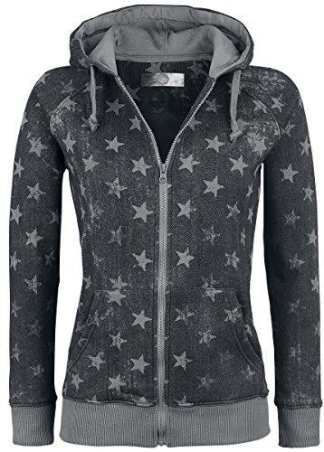 R.E.D. by EMP Star Hoodie Jacket Felpa donna grigio XL