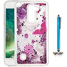 A9H Funda Transparente Dynamic Liquid Glitter Color Paillette Sand Quicksand arena movediza Star Back Cover Case para LG G4 Stylus2 LS775 shell -08HUA