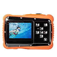 TOP-MAX Digital Underwater Kids Camera Waterproof Dustproof with 2.0' TFT LCD Screen D720p 12MP for Swimming Diving and Beaching