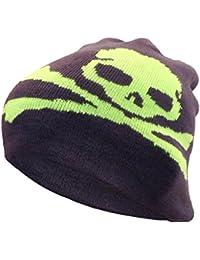 Brubaker Beanie Mütze mit großem Herz Skull Anker oder Smilie für Jungen und Mädchen
