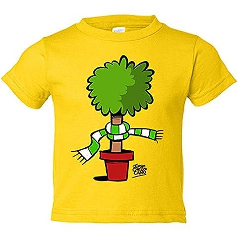 Camiseta niño Real Betis Bético verdiblanco natural