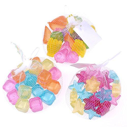 Huntgold 20 Stck Wiederverwendbar 3d Tpu Eiswrfel Obst Sterne Mehrfarbig Kche Werkzeug Eisform