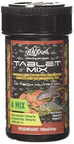 Haquoss Tablet Mix Mangime in Pastiglie affondanti per Pesci Pulitori da Fondo e Vetro, 100 ml/44 gr
