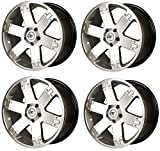 4x Alufelgen W-Tec Titan 9x22 Silber LK: 5x127 ET: 40 Felgen Alufelge Felge Wheels.