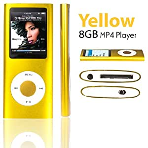 """SAVFY® 8GB MP3 MP4 Player with FM Radio, Games, Voice Recorder & Movie Player, 1.8"""" High Resolution TFT True Colour Backlit Screen, built in rechargeable battery with upto 10 hours play time, 6 Bright Colours Available: Black, Silver, Purple, Red, Blue and Pink"""