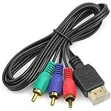 1M HDMI HDTV Macho a 3 RCA RGB AV Audio Video Conversión Adaptador Cable 1080P