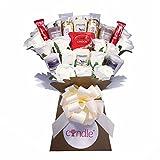 Yankee Collection Duftkerze, Seide elfenbeinfarben Rosen & Ferrero Rocher Schokolade Bouquet Geschenk-Set