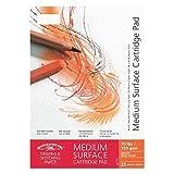 Winsor & Newton Zeichenblock, mittlere Körnung, reinweiß, geleimt, reinweiß, 130g/m², 30 - Blatt, DIN A2