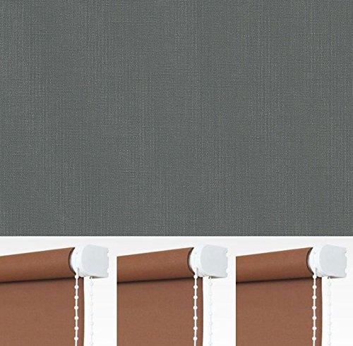 Kettenzugrollo Seitenzugrollo Rollo Dunkelgrau Anthrazit Grau Breite 60-240 cm Länge 180 cm Blickdicht Lichtdurchlässig Sonnenschutz Sichtschutz (172 x 180 cm)