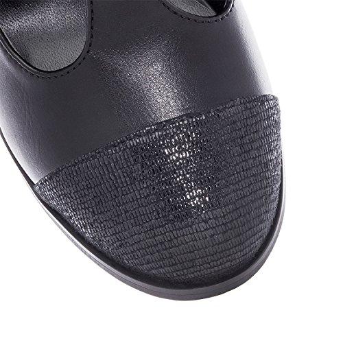 Marrom Am5115 Macio Sapatos Andres Machado No Jane De Mulheres Mary Preto AB0q5