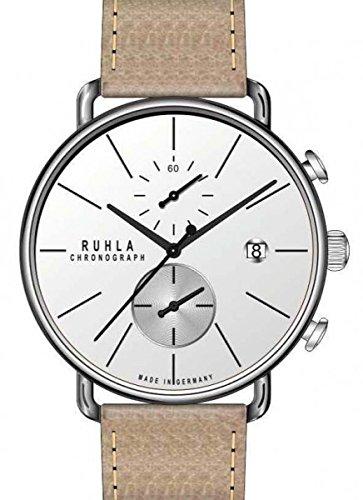 RUHLA Chronograph Herrenuhr 15153 Leder Edelstahl