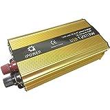 Mesllin Convertisseur de courant à onde pure sinusoïdale automatique pour voiture bateau modifiée 1200W DC 12V à AC 240V USB