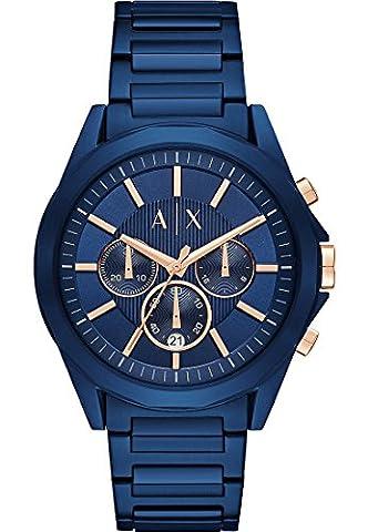 Armani Exchange Herren-Armbanduhr Analog Quarz One Size, blau, blau