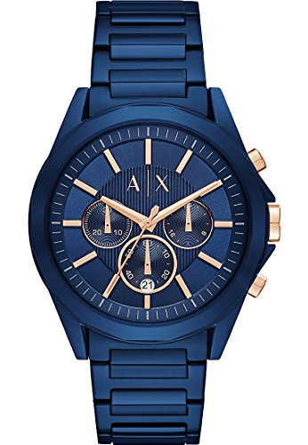 Uhren Exchange Blau Armani (Armani Exchange Herren-Armbanduhr Analog Quarz One Size, blau, blau)